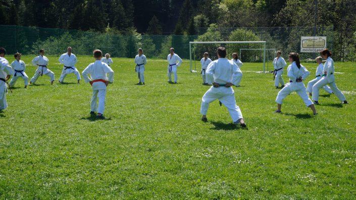 Shotokan Karate Club Feldkirch Training im Freien