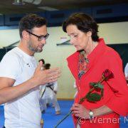 KARATE VORARLBERG BLZ Kumite Training Landesrätin Bernadette Mennel Gerhard Grafoner