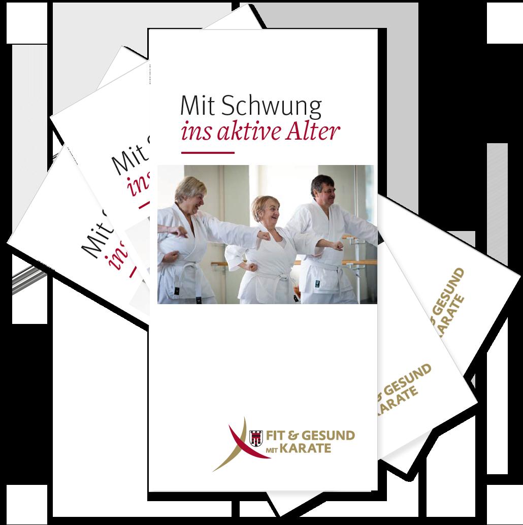 Flyer Fit & Gesund mit Karate Vorarlberg