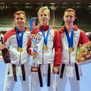 WSKA Shotokan WM Treviso Karate Vorarlberg Spitzensport Karate Austria Vincent Forster Lukas Buchinger Christoph Buchinger