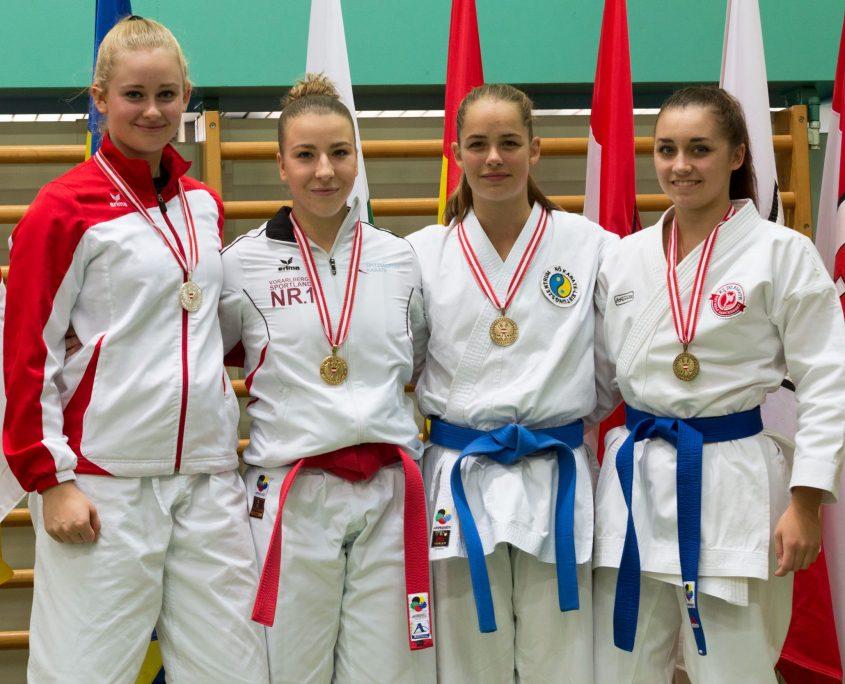 Österreichische Meisterschaft Karate Vorarlberg 2017 Spitzensport Karate Austria Patricia Bahledova