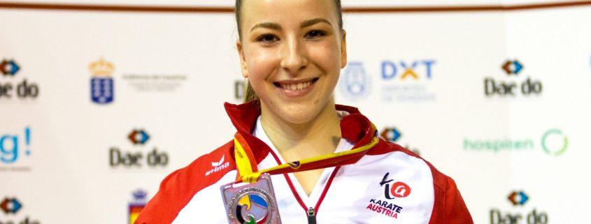 WKF Karate Weltmeisterschaft 2017 Teneriffa Silbermedaille Vizeweltmeisterin Patricia Bahledova Karate Vorarlberg Kata