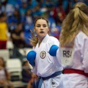 WKF Karate Weltmeisterschaft 2017 Teneriffa 7. Platz Marijana Maksimovic Karate Vorarlberg Kumite