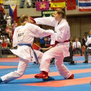 WKF Karate Weltmeisterschaft 2017 Teneriffa Viertelfinale Hanna Devigili Karate Vorarlberg Kumite