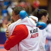 WKF Karate Weltmeisterschaft 2017 Teneriffa Viertelfinale Hanna Devigili Karate Vorarlberg Kumite Daniel Devigili