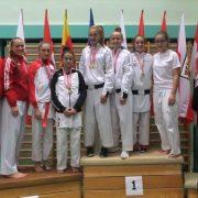 Österreichische Meisterschaft Karate Vorarlberg 2017 Spitzensport Karate Austria Hanna Deviglil Marina Stojic Vanessa Giesinger Sara Savic