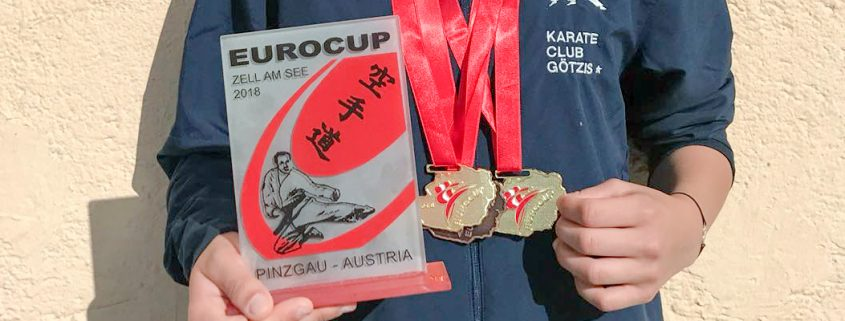 Kristin Mathis Euro Cup 2018 Goldmedaille Karate Vorarlberg Kumite