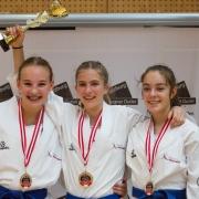 Austrian Junioren Open 2018 Karate Vorarlberg Hanna Devigili Stella Kleinekathöfer Vanessa Giesinger