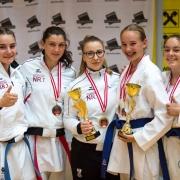 Austrian Junioren Open 2018 Karate Vorarlberg Patricia Bahledova Hanna Devigili