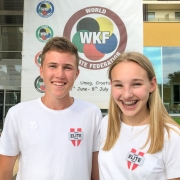 KARATE VORARLBERG WKF Youth League Team 2018 Adrian Nigsch Hanna Devigili