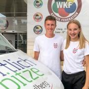 KARATE VORARLBERG WKF Youth League Team 2018 Adrian Nigsch Hanna Devigili