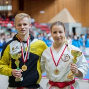Karate Landesmeisterschaft 2018 Götzis Vincent Forster Patricia Bahledova Kata