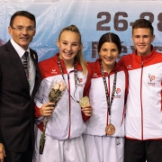 WKF Youth League 2018 Cancun Team KARATE VORARLBERG Daniel Devigili Hanna Devigili Kristin Mathis Adrian Nigsch