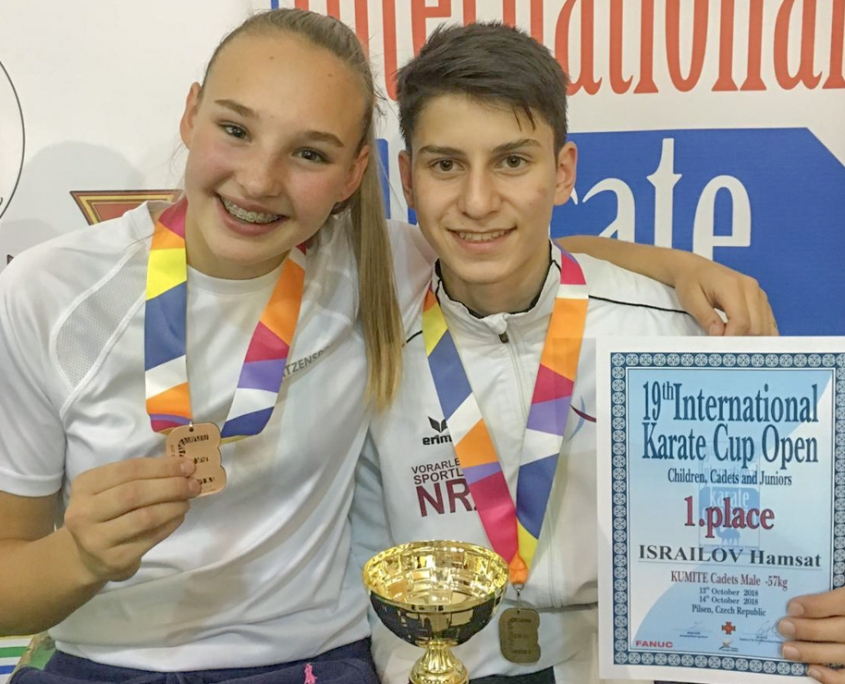 Euro Grand Prix Pilsen 2018 Hanna Devigili Hamsat Israilov KARATE VORARLBERG
