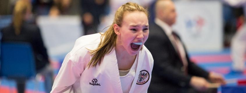 EKF Europameisterschaft 2019 Aalborg Dänemark KARATE VORARLBERG Hanna Devigili Europameisterin 2019