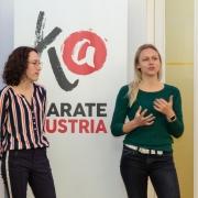 KARATE VORARLBERG Generalversammlung 2019 Olympiazentrum Vorarlberg Projekt Gleichklang Tamara Seiwald Robin Sarina Pfeifer