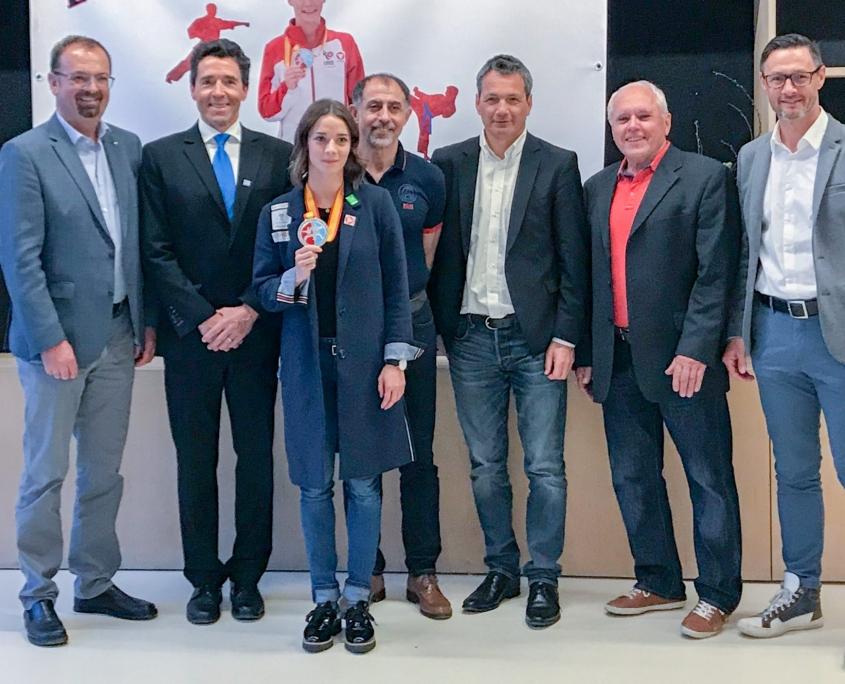 Empfang Bettina Plank EKF Vize Europameisterin 2019 KARATE VORARLBERG KARATE AUSTRIA KC Mäder