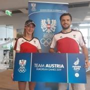 European Games 2019 Minks Karate KARATE VORARLBERG KARATE AUSTRIA Bettina Plank Stefan Pokorny Kumite