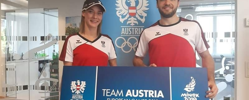 European Games 2019 Minks Karate KARATE VORARLBERG KARATE AUSTRIA Bettina Plank Stefan Pokorny Kumite