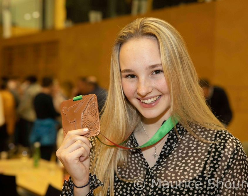 EKF Junioren EM 2020 Budapest Empfang Hanna Devigili Bronze Fraxern KARATE VORARLBERG