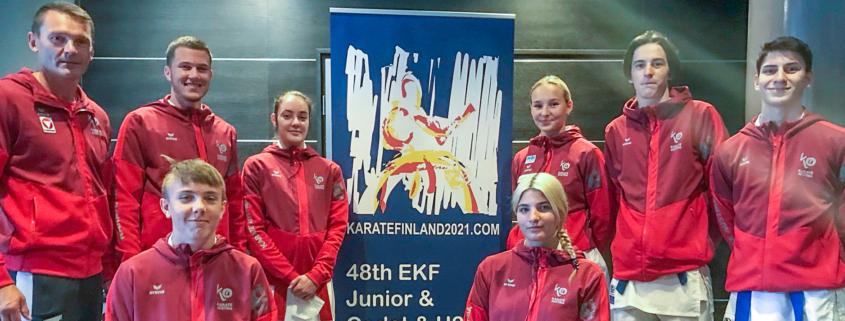 EKF CJU21 Europameisterschaft 2021 Tampere Finnland KARATE VOARARLBERG