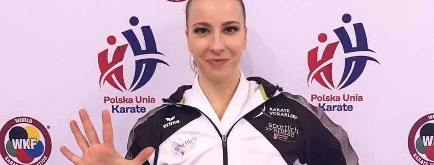 Polish Open 2021 Bielsko-Biala Patricia Bahledova KARATE VORARLBERG